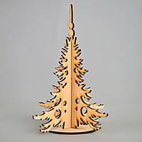 Новогодняя деревянная елочная игрушка заготовка Елочка_подставка_6