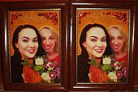 Изготовление портретов из янтаря.