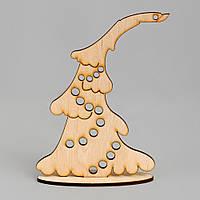 Новогодняя деревянная елочная игрушка заготовка Елочка_подставка_9