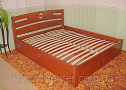 """Кровать полуторная с ящиками """"Сакура"""". Массив - сосна, ольха, береза, дуб., фото 2"""