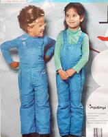Теплый детский зимний комбинезон для мальчика на девочку 74 80