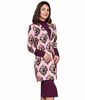 Пальто розового цвета из дайвинга
