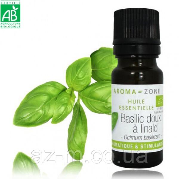 Эфирное масло Базилика линалоольного BIO (Basilic doux à linalol), 10 мл