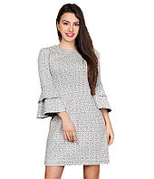 Платье короткое с воланами