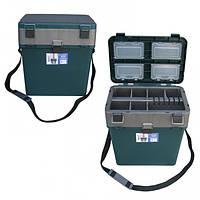 Ящик для зимней рыбалки Тонар (Зелёный)