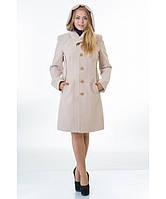Пальто женское модель №9 капюшон бежевое (весна/осень), р.44-48