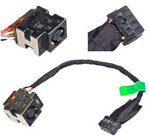 Разъем гнездо кабель питания HP 255 G1, 250 G1 series с кабелем 12см 661680-TD1 / 661680-302, фото 2