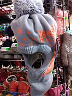 Шапка-шлем для девочки флис