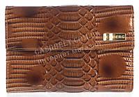 Стильный надежный женский кожаный лаковый кошелек высокого качества ICEBERG art.IC-40 TAN коричневый, фото 1