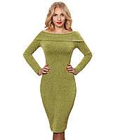 Платье зелёное трикотажное