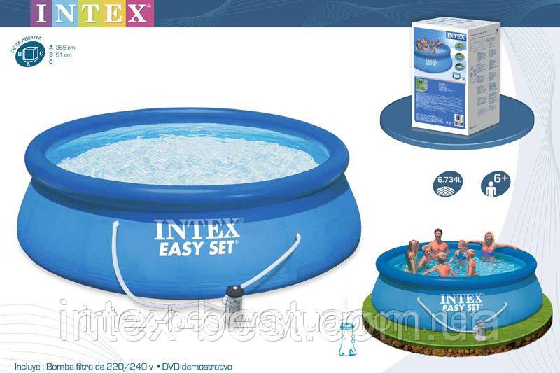 Надувные бассейны Intex Easy Set Pool 28146 (56932) (366Х91 см. )