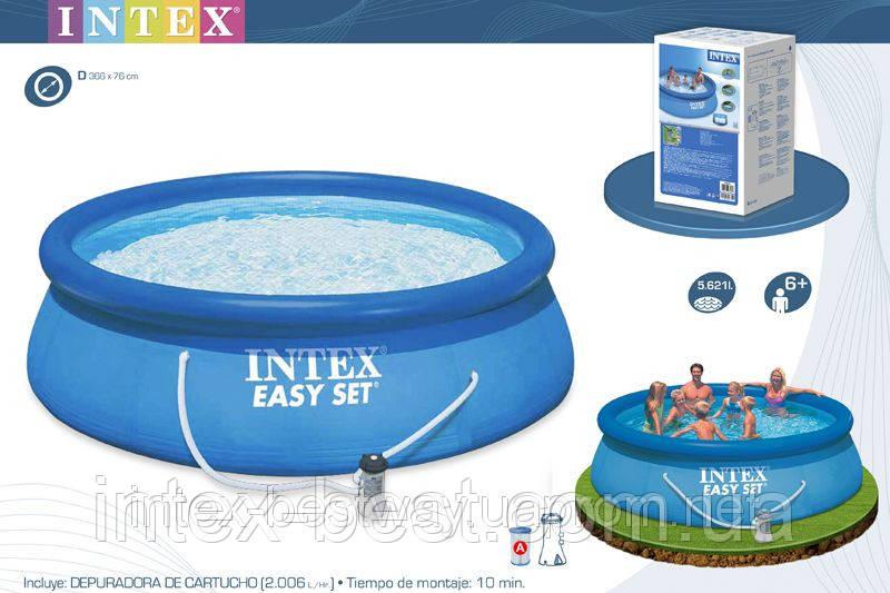 Надувной бассейн Intex 28132 (56422) (366х76 см.)