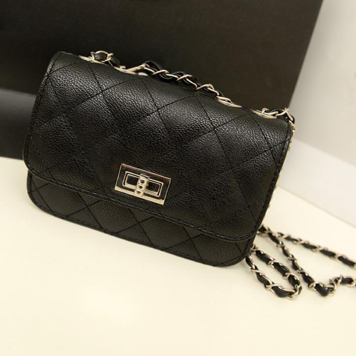 Женская сумка клатч Chanel черного цвета
