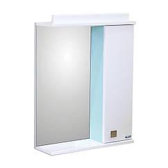 Зеркало Амадин 04 с подсветкой 50 см Салат-пастель
