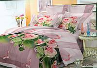 Комплект постельного белья 3D розы с бусами