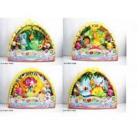 Коврик для малышей 518-02/3/4/6 (12шт) с погремушками на дуге, в сумке 81*56*6 см КК