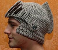 Вязаная шапка Шлем рыцаря, фото 1