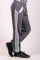 Спортивные детские штаны с лампасами (Серый +Белый)