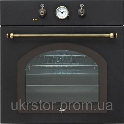 """Духовой шкаф TEKA HR 550 (Rustica), черный, ручки """"золото"""", фото 2"""