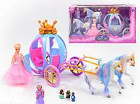 Карета с принцессой 201 две лошадки, фея