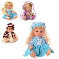 Кукла АЛИНА , 32см,музыка, звук, на русском языке, 4 вида, в рюкзаке, 20-26-13см., 5078/79/57/68