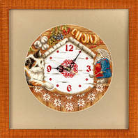 """Набор для вышивки крестом """"Panna"""" Часы. Домовенок Поварешкин Ч-1393"""