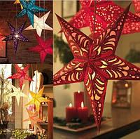 Новогодняя 3D звезда, гирлянда Звезда бумажная, фото 1