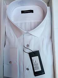 Чоловіча сорочка приталені батал DERGI довгий рукав код 7124-2