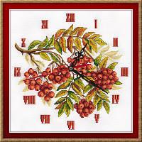 """Набор для вышивки крестом """"Panna"""" Часы. Гроздья рябины Ч-1770"""