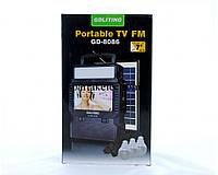Портативная солнечная станция фонарь + телевизор TV FM GDLite GD-8086