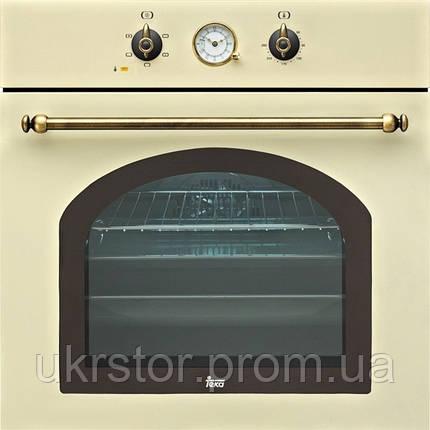 """Духовой шкаф TEKA HR 550 (Rustica), бежевый, ручки """"латунь"""", фото 2"""