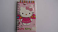 "Блокнот детский ""Хелоу Китти.Hello Kitty"",А6, 80лис,пружина,цветной фон,линия,тверд обложка.Блокнот на пружине"