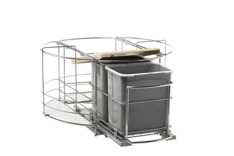 Сортер для мусора - карусель с выдвижным блоком