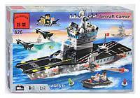 """Конструктор BRICK 826 """"Авианосец"""", 508 дет, в коробке. Детский конструктор для мальчиков"""