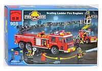 """Конструктор BRICK 908 """"Пожарная тревога"""", 607 дет, в коробке. Детский конструктор для мальчиков"""