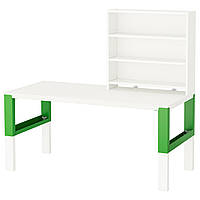 PÅHL Письменн стол с полками, белый, зеленый 791.289.96