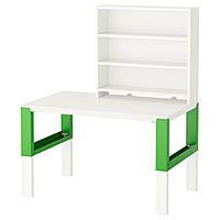PÅHL Рабочий стол с полкой, белый, зеленый