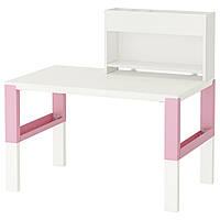 PÅHL Рабочий стол с возможностью дополнительной кровати, белый, розовый