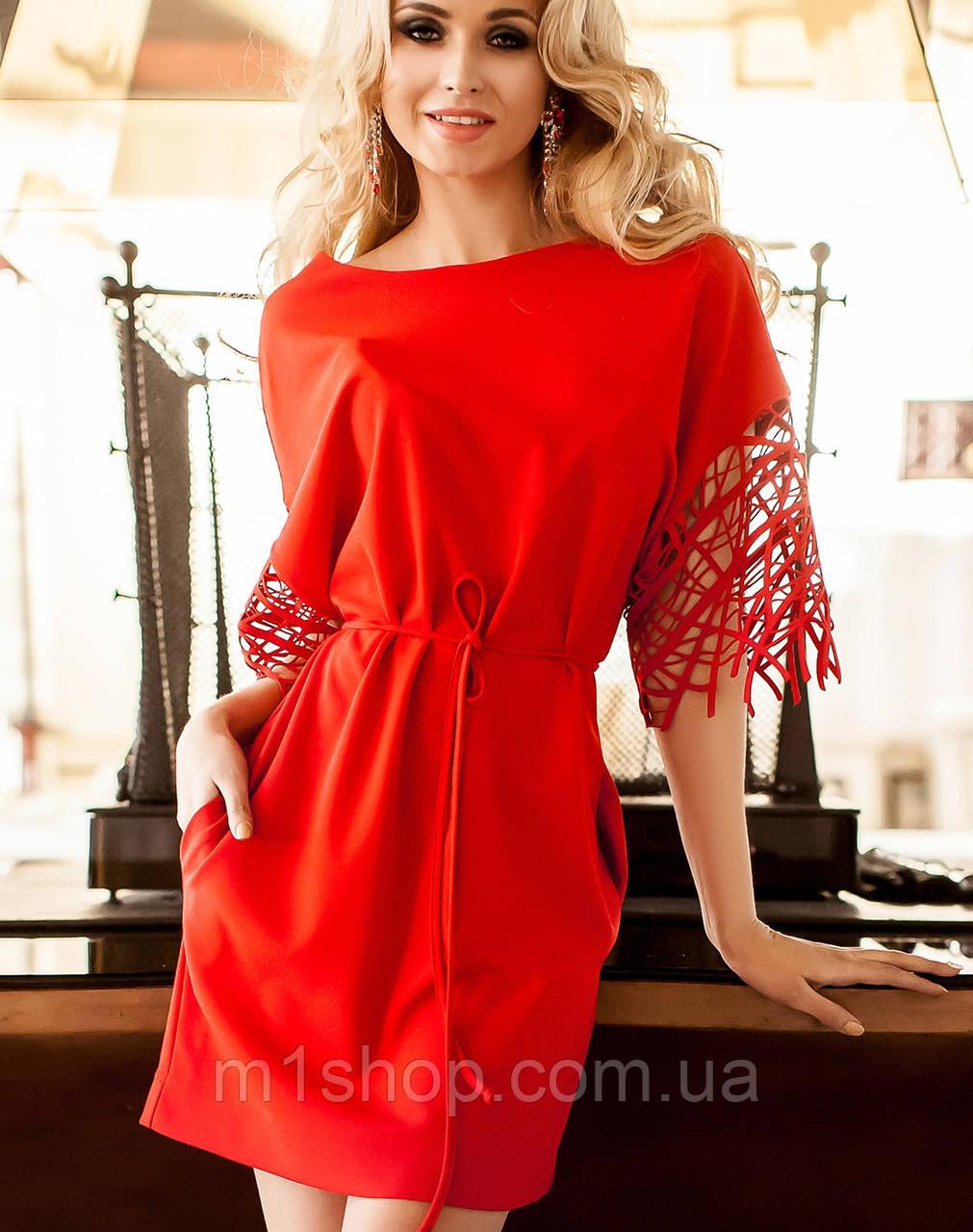 Платье с нарядными рукавами для полных (Кобби_1 jd)