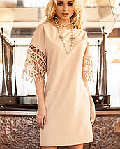 Платье с нарядными рукавами для полных (Кобби_1 jd), фото 3