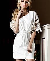 Платье с нарядными рукавами для полных (Кобби_1 jd), фото 2