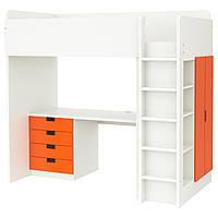 STUVA Универсал вставь antr/4 ящики с организац/2 drz, белый, оранжевый