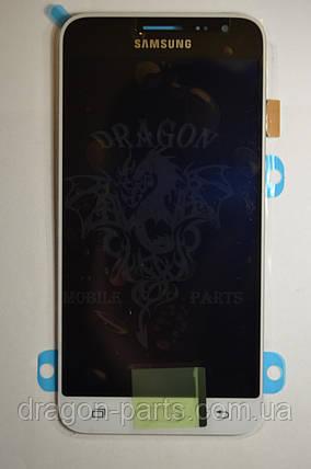 Дисплей Samsung J320 Galaxy J3 с сенсором Белый White оригинал , GH97-18414A, фото 2