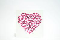 """Панно белое """"Розовое сердце"""""""