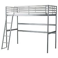 Каркас кровати-чердака IKEA SVÄRTA серебристый 202.479.82