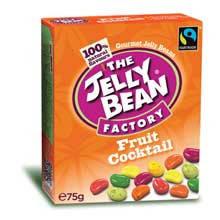 Желейные конфеты бобы фруктовый коктейль The Jelly Bean Factory, 75г