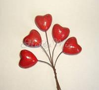 Сердечки на проволочке (5 шт)