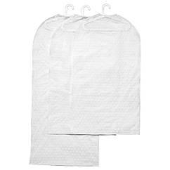 PLURING Чехол для одежды, 3 шт., прозрачный белый 102.872.52