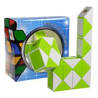 Змейка Рубика зеленый, желтый, оранжевый,синий Smart Cube GREEN