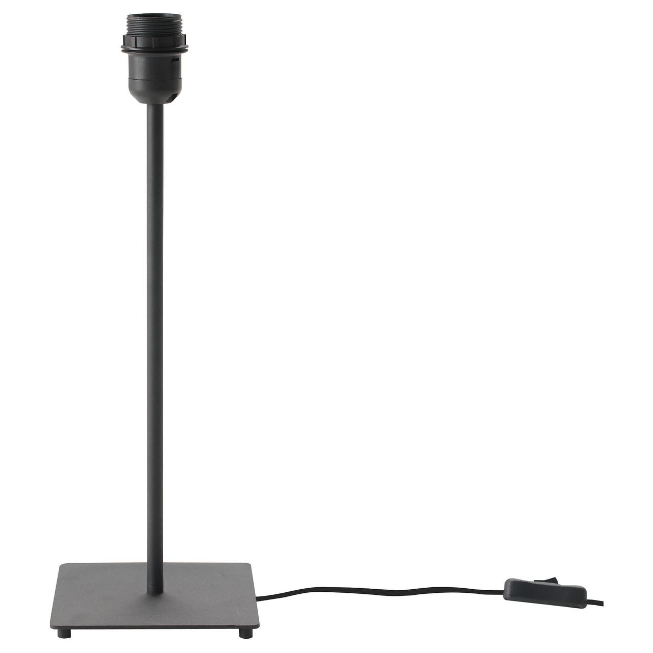 Основание настольной лампы IKEA HEMMA черное 001.495.05